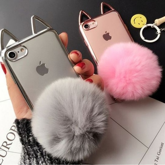 finest selection fd54c 5d990 ‼️Clearance sale🐇 Iphone 6/6s Cat puff ball case